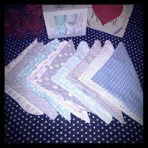 Bundle Of Infant Receiving Blanket Or Burp Cloths